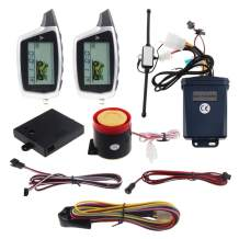 EASYGUARD EM212 2 Way Motorcycle Alarm System with LCD Pager Display Rechargeable Transmitter Built in Shock Sensor & Microwave Sensor Detecting DC12V