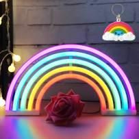 AIZESI Rainbow Neon Light Rainbow Neon Sign Wall Light Battery and USB Operated Neon Light Rainbow Christmas Gifts