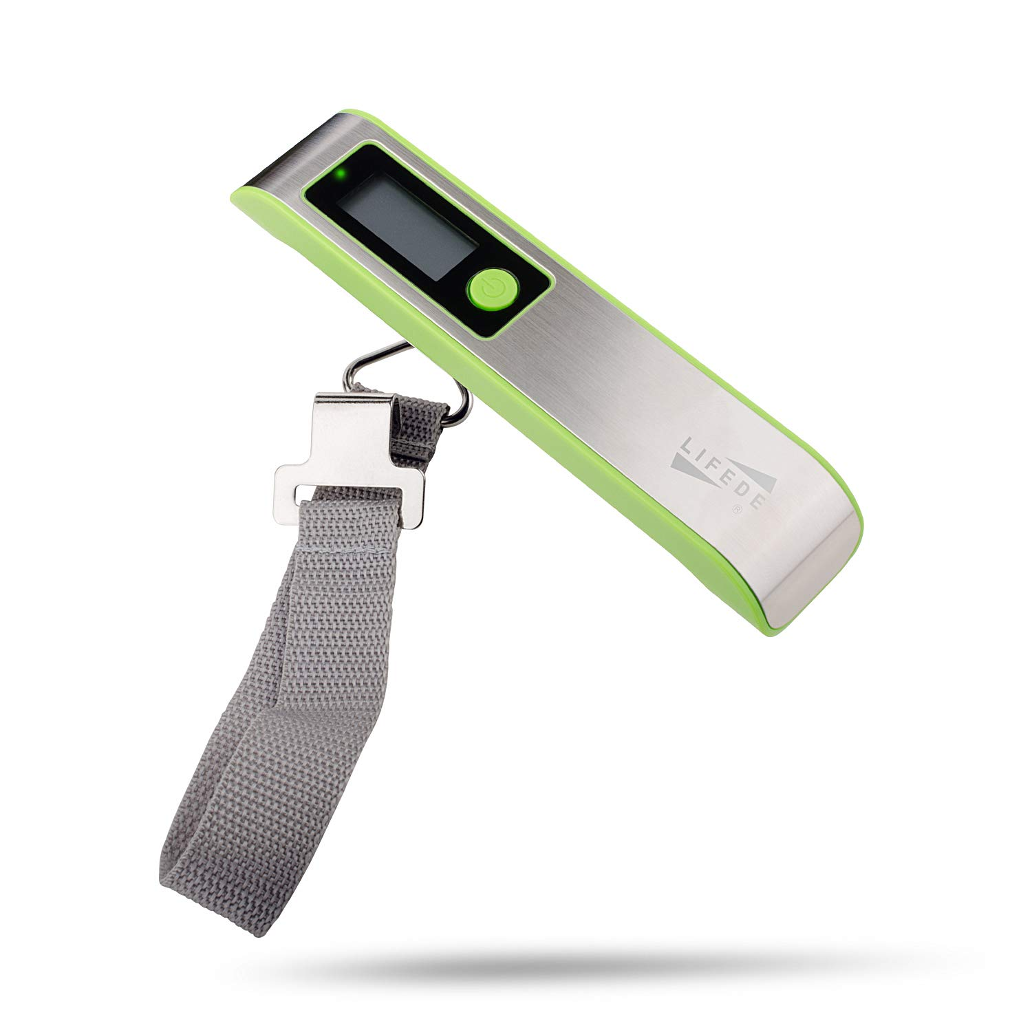 Digital Weight Luggage Scale, Travel Luggage Scale,110lbs,Stainless Steel and ABS,Gift for Traveler, Green.