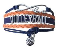Infinity Collection Volleyball Bracelet- Girls Volleyball Jewelry (5 Colors) Perfect Volleyball Gifts for Players