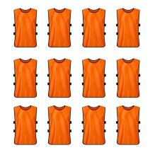 TOPTIE Pinnies Scrimmage Vests (12-Pack) - Perfect as Basketball Jersey, Football Jersey