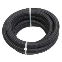 """10FT 10AN 5/8"""" Nylon Stainless Steel Braided Fuel line 9/16"""" 14.27mm ID Tube Oil Gas Hose CPE Synthetic Rubber Line Universal Black"""
