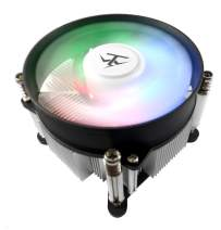 TRONWIRE TW-8 RGB LED Intel Core i3 i5 i7 Socket 1151 1150 1155 1156 3-Pin Connector CPU Cooler with Aluminum Heatsink & 3.62-Inch Fan with Pre-Applied Thermal Paste for Desktop PC Computer