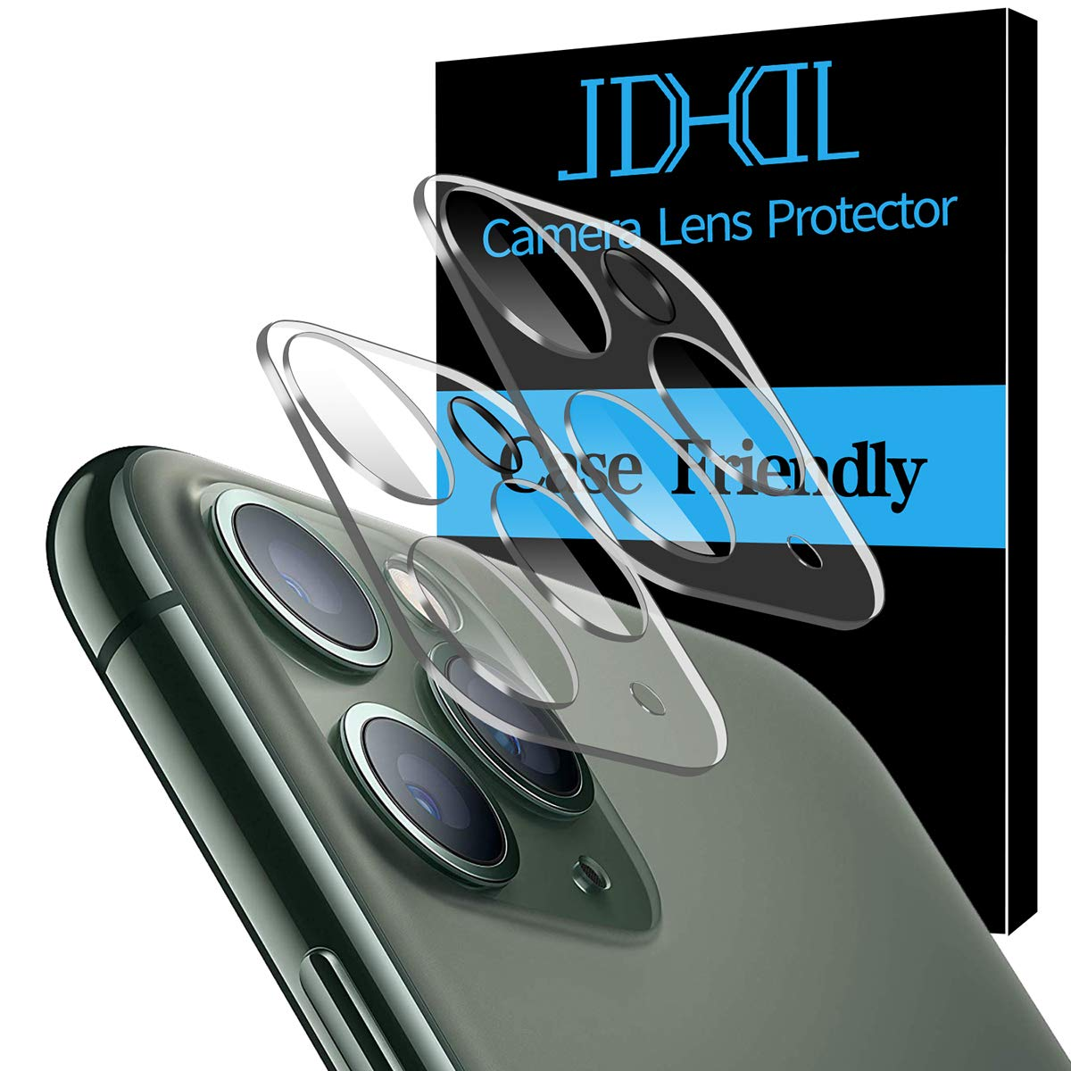 """[2 Pack] for iPhone 11 Pro/iPhone 11 Pro Max Camera Lens Protector, Bubble-Free Anti-Scratch HD Clear Tempered Glass Camera Lens Screen Protector 6.5"""" & 5.8"""""""
