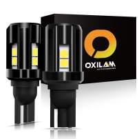 OXILAM 921 LED Bulbs Backup Reverse Light 2000 Lumens Extremely Bright with High Power 3030 Chipsets Canbus Error Free for 921 912 T15 906 W16W Replacement (6500K White, Pack of 2)