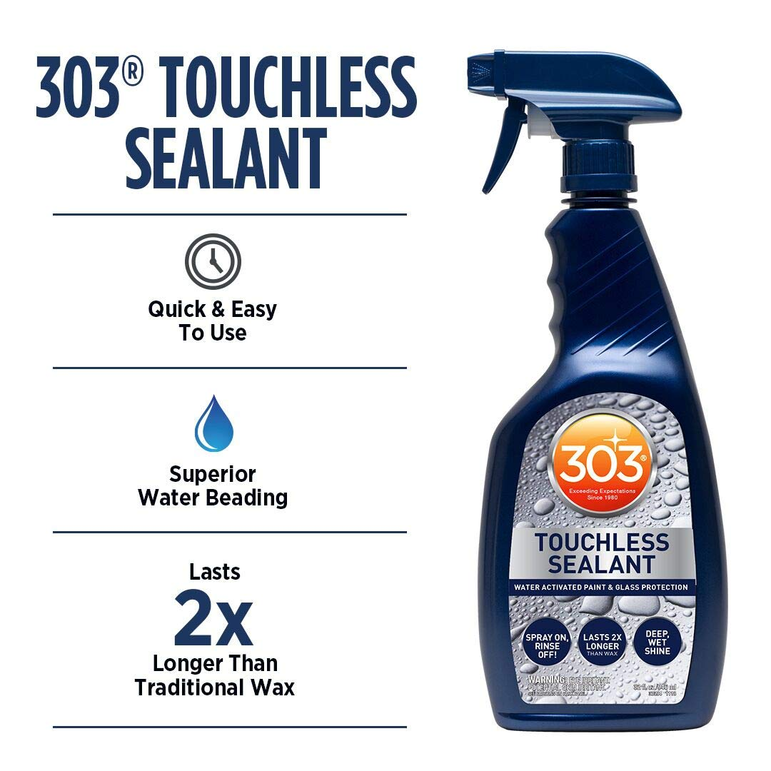 303 Blue SiO2 Based Touchless Sealant for Paint, Glass, Wheels (30394CSR), 32oz-6pack, 32. Fluid_Ounces, 6 Pack