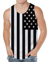 Leapparel Mens 3D Print Tank Tops Summer Casual Work Out Sleeveless Graphics Tees Sport Gym Shirt
