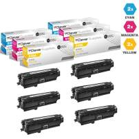 CS Compatible Toner Cartridge Replacement for HP CP4525dn CE261A Cyan CE262A Yellow CE263A Magenta HP 648A Color Laserjet CP4000 CP4500 CP4025dn Enterprise CP4525xh CP4025n 6 Color Set