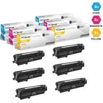 CS Compatible Toner Cartridge Replacement for HP CP4525dn CE261A Cyan CE262A Yellow CE263A Magenta HP 648A Color Laserjet CP4000 CP4500 CP4025dn Enterprise CP4525xh CP4025n 6 Color Set