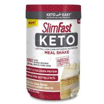 SlimFast Keto Meal Replacement Shake Powder, Vanilla Cake Batter, 12.2 Ounce, Pack of 1
