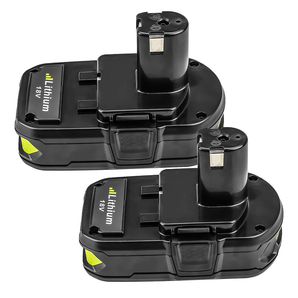 2.5Ah for Ryobi 18V Battery P100 P102 P104 P105 P103 P107 P108 for Ryobi Lithium One Plus Cordless Tool Battery 2-Pack