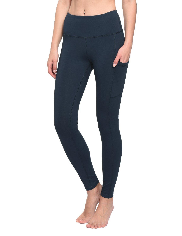BALEAF Women's High Waist Yoga Side Pocketed Leggings Active Workout Tummy Control Pants