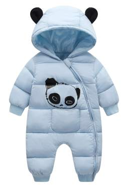 Happy Cherry Unisex Baby Newborn Snowsuit Zipper Cute Panda Romper Winter