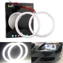 EverBright 1Pair White 100MM Car Led Cotton Lights Angel Eyes Halo Rings COB Light Circle Ring Headlight Lamp with Housing 12V 24V