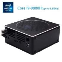 8 Core 16 Threads i9 Mini PC Windows 10 pro, Intel 9Th Gen Micro Compact Desktop Computer 16G RAM 256G SSD UHD Graphics[HDMI/Mini DP/2.4G+5.8G WiFi/BT 4.0/ VESA Mount]