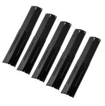 """Broilmann Universal Adjustable Grill Heat Plate Replacement for Gas Grill, Porcelain Steel Heat Plate Shield, Flavorizer Bar, Extends from 11.75"""" up to 21"""" L (Pack of 5)"""