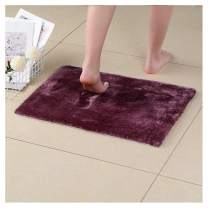 NICE LIFE Recycled Bathroom Mat Microfiber Shower Mats for Bathroom, Purple Bathroom Rugs 17x24 Inches, Non-Slip Machine Washable, Soft Plush Carpet for Bathroom, Tub, Shower, Purple