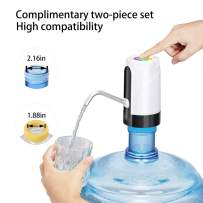 5 Gallon Water Dispenser,built-in 2000 mAh Bottle Water Pump with colored LED lights,is suitable for 48mm and 55mm water bottles,which can be used for office,kitchen,outdoor activities like picnicking