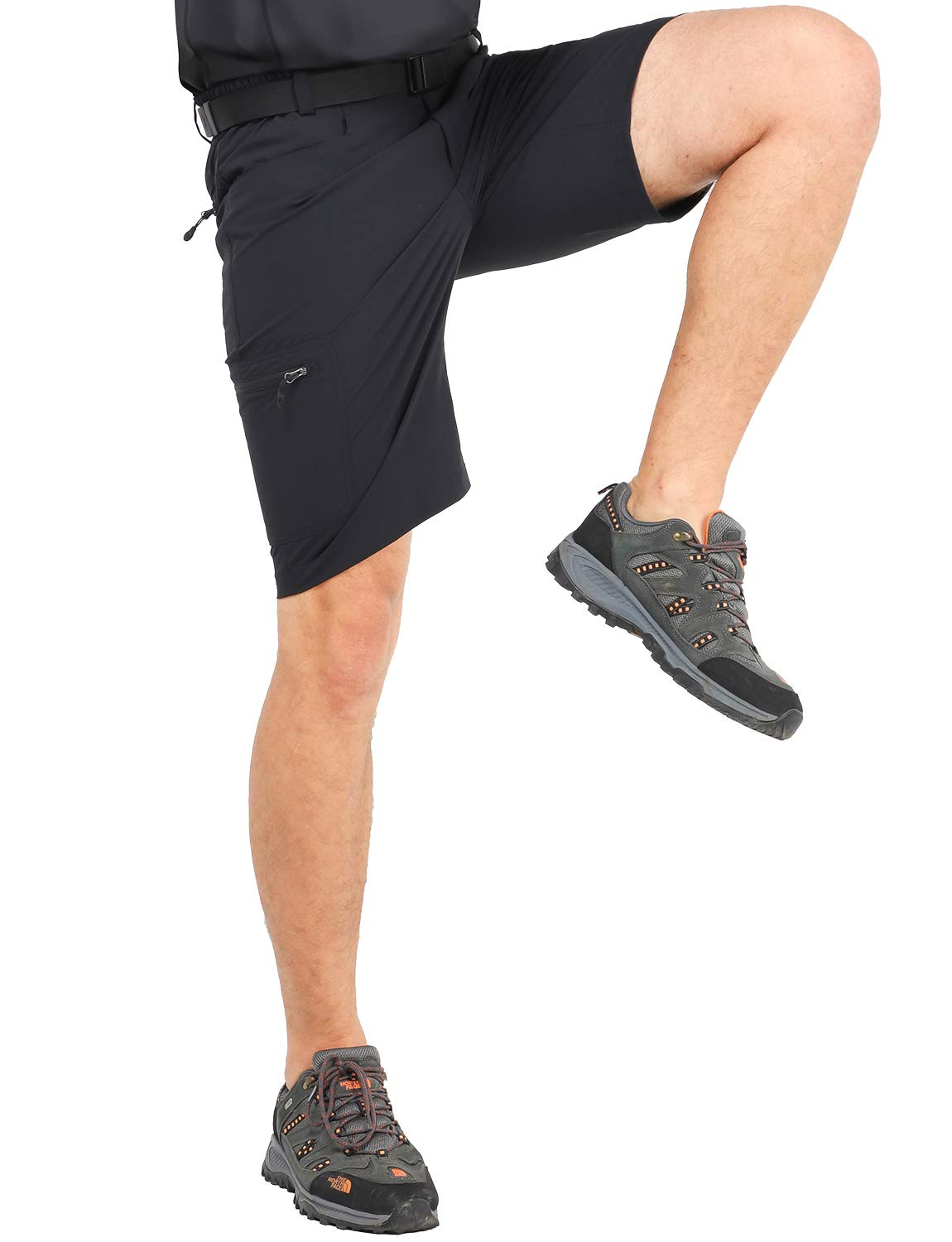 MIER Men's Quick Dry Hiking Shorts Lightweight Cargo Shorts with 6 Pockets, Stretchy, Water Resistant