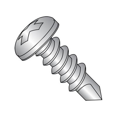 Phillips Drive Pack of 50 3//4 Length 410 Stainless Steel Thread Cutting Screw Type 25 #10-16 Thread Size Plain Finish Pan Head