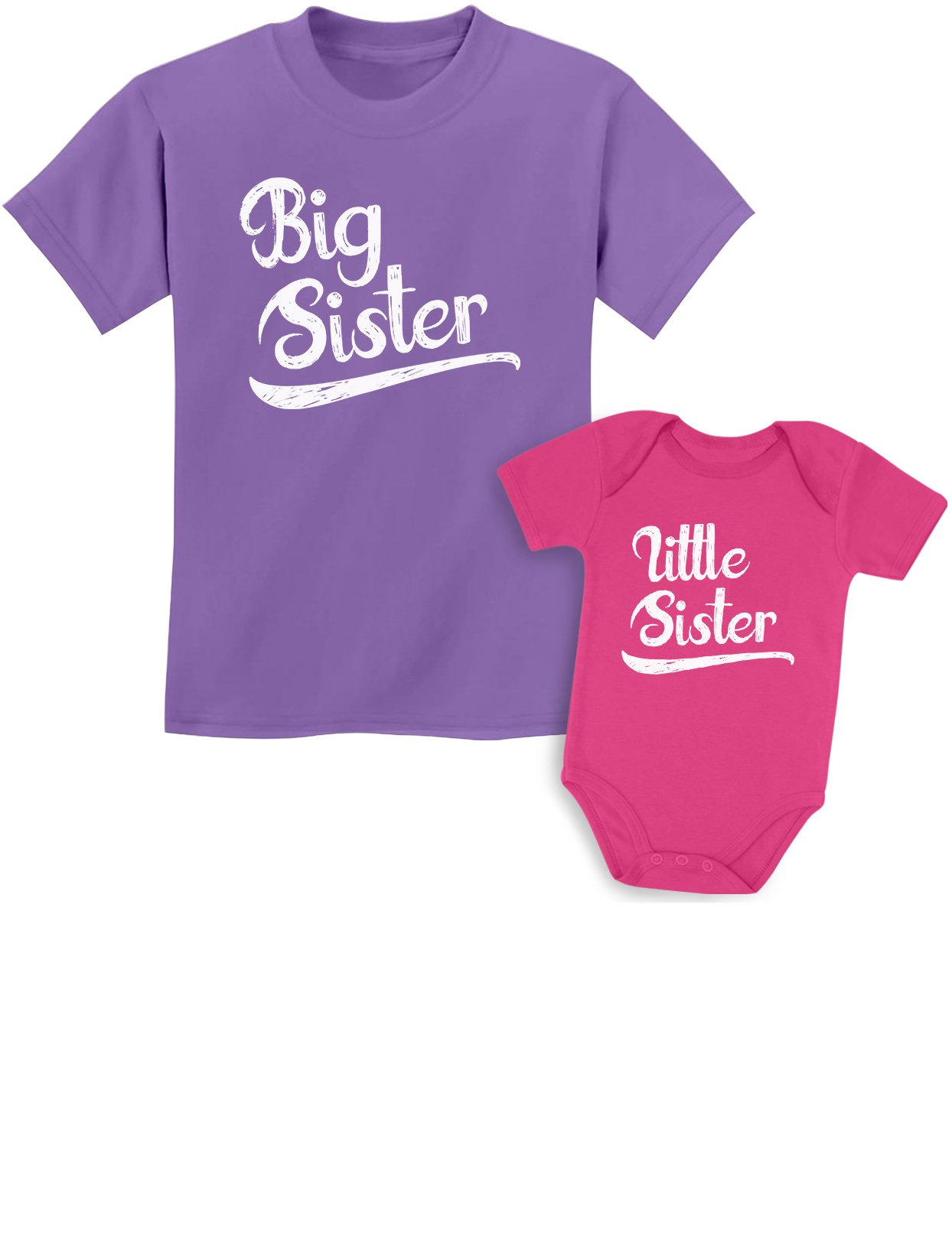 Sibling Shirts Set for Big Sisters and Little Sisters Girls Gift Set