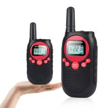Rechargeable Walkie Talkies for Adults Long Range 5 Miles 22CH VOX Flashlight LCD Two Way Radio Rechargeable Li-ion Battery 2 Pack for Camping Family Road Trip Outdoor Hiking Red Color Walkie-talkies