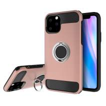 Olixar for iPhone 11 Pro Ring Case - X Ring - Finger Loop - Rotating Kickstand and Media Viewing Stand - Selfie Loop - Rose Gold