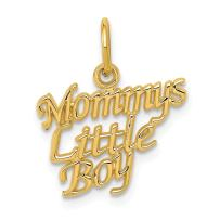 14k Yellow Gold Mommys Little Boy Pendant Charm Necklace Special Person Son Fine Jewelry For Women Gifts For Her