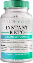 Codeage Instant Keto BHB Supplement Pills for Women and Men, BHB Salts as Exogenous Ketones, 180 Capsules, 90 Day Supply