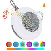 Wireless Bluetooth Speakers - Portable Mini Speaker Night Light, Shower Speaker with Colorful Lights Stereo Sound, Waterproof Built-in Mic, Support AUX/TF Card, for Pool Bike Outdoor Home