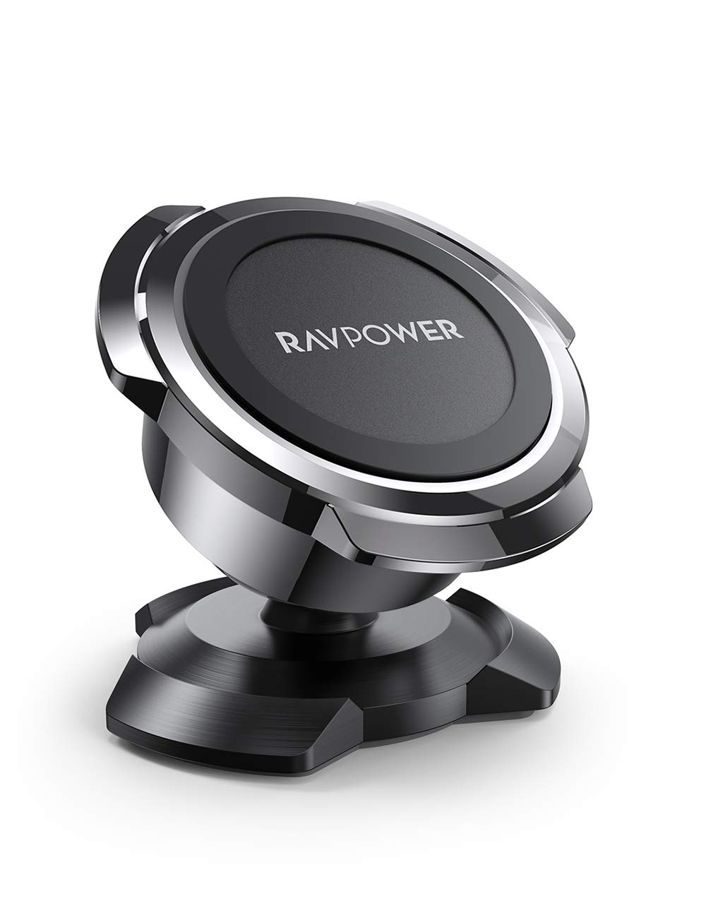 Magnetic Phone Car Mount, RAVPower Phone Holder for Car, Car Cellphone Holder, Magnetic Mount, Compatible with iPhone 11 Pro XS Max XR X 8 7 Plus Galaxy S10 S9, Note 10, LG G8 Thinq, Pixel 3 XL, Black