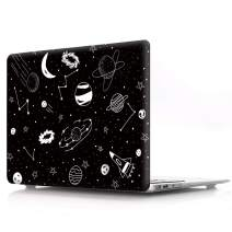 """HRH Hand Drawn Space Pattern Laptop Body Shell Protective PC Hard Case for MacBook Air 13.3"""" Inch (A1466/A1369,Older Version Release 2010-2017) Not Compatible 2018 A1932 MacBook Air 13"""""""
