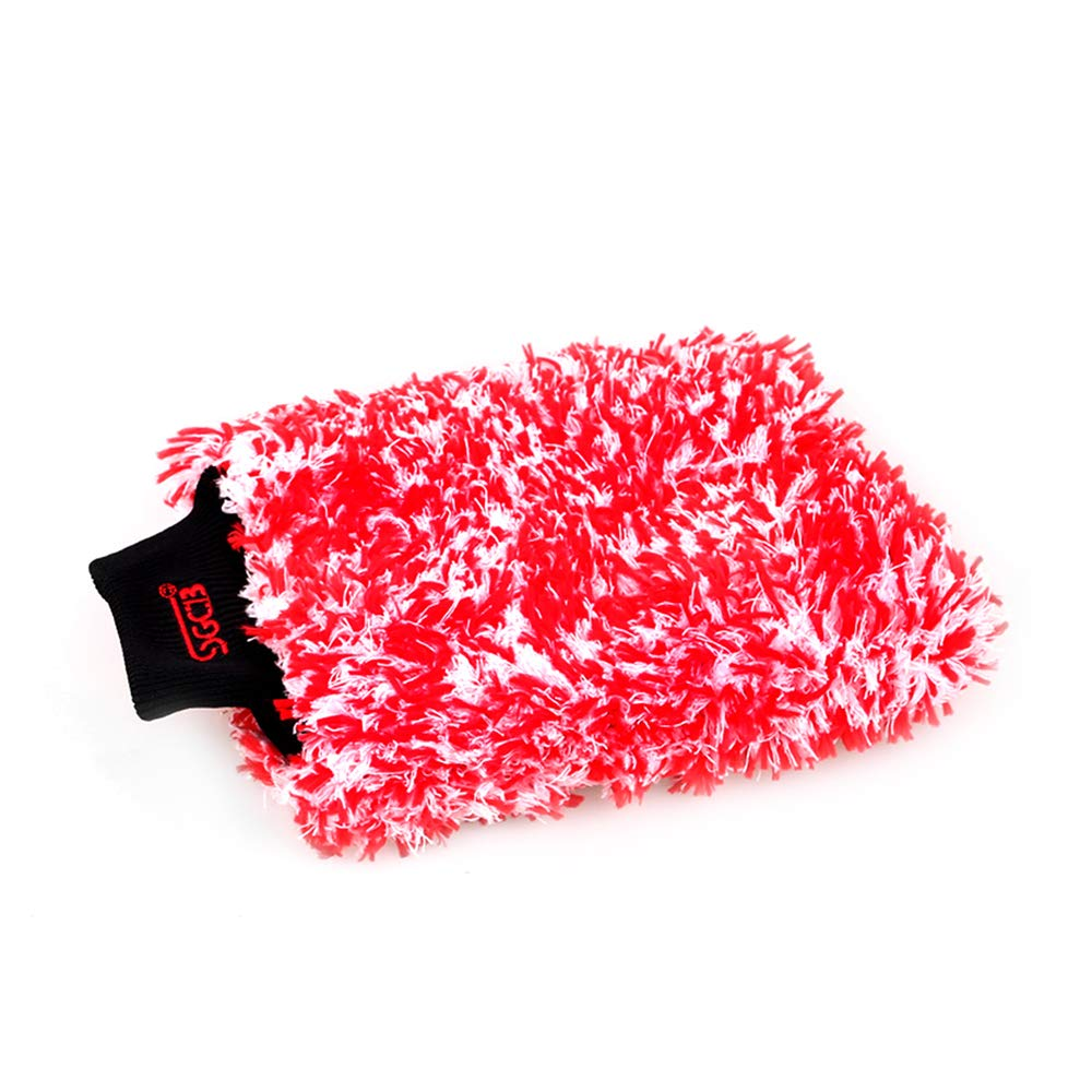 SGCB Premium Cyclone Microfiber Car Wash Mitts, Double Sided Soft Wash Gloves Totally Swirl & Lint & Scratch Free, Large Capacity for Holding Tons of Subs and Water Absorbing Car Protective
