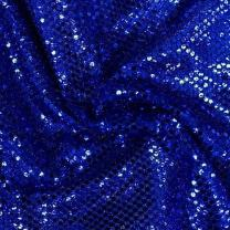 Faux Sequin Knit Fabric Shiny Dot Confetti for Sewing Costumes Apparel Crafts by The Yard (10 Yards, Royal Blue)