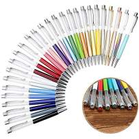 27 Pack Colorful Empty Tube Floating DIY Pens,Top with Diamonds,Building Your Favorite Liquid Sand Pens Gift …