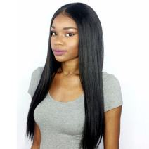 Premier 360 Lace Frontal Wigs Human Hair Brazilian Hair Wigs for Women Light Yaki Straight Long Human Hair 360 Full Lace Wig Pre Plucked Lace Wig with Baby Hair Natural Color 20 inches Free Part Wig