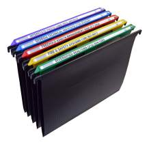 Ultimate Office MagniFile Hanging File Folders V Base Letter Size with 11 inch Magnified Indexes That Double The Size of Your File Titles to Find Files Fast. (Set of 5 Assorted)