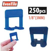 """Eventile Tile Leveling System Clips Spacers Clips (250, 1/8""""(3MM))"""