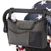 Stroller Organizer Bag for All Baby's Accessories Deep Cup Holders Travel Bag with Shoulder Strap Extra Storage for Baby Diaper Toys & Snacks Easy Installation Universal-Fits All Baby Stroller Models