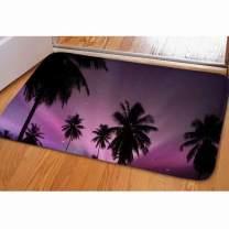 Dellukee Welcome Large Doormats Galaxy Sky Coconut Tree Pattern Indoor Outdoor Funny Non Slip Durable Washable Home Decorative Door Mats Bath Rugs For Entrance Bedroom Bathroom Kitchen, 23 x 16 Inches