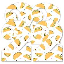 Big Dot of Happiness Taco Twosday - Decorations DIY Mexican Fiesta Second Birthday Party Essentials - Set of 20
