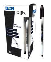 Linc Offix Smooth Ball Point Pen, 1.00mm Tip, 50-Count, Black - 802917151529