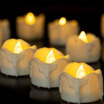 Flameless LED Tea Light Candles with Timer,12 Pcs Battery Operated Votive Tea Lights Candle for Home Party Decorations,6 Hours On and 18 Hours Off in 24 Hours Cycle Warm White Light