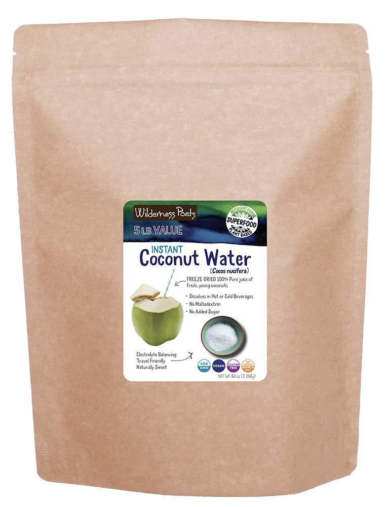 Wilderness Poets Coconut Water Powder - Freeze Dried - Instant Mix (5 Pound)