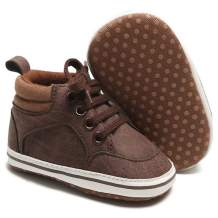Babelvit Baby Boy Girl Soft Sole Canvas Sneakers Sparkle High Top Lace Up Infant Unisex Ankle Shoes Booties Toddler Newborn Prewalker First Baby Walking Crib Shoes