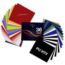"""HTV Heat Transfer Vinyl Bundle: 36 Pack 12"""" x 10"""" Iron on Vinyl for T-Shirt, 27 Assorted Colors with HTV Accessories Tweezers for Cricut, Silhouette Cameo or Heat Press Machine"""