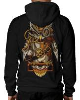INTO THE AM Black Graphic Pullover Hoodie Unisex Sweatshirts - 3D Patch Detail