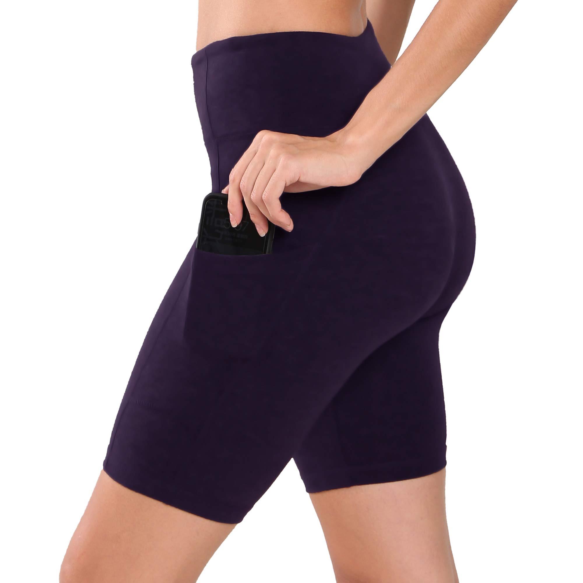 "Ogeenier Women's 7"" /8"" /9"" High Waist Workout Yoga Shorts with Pockets Running Compression Bike Leggings Shorts"