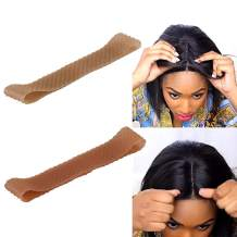 2 Pack Wig Grip Band Non Slip Transparent Silicone Wig Fix Silicone Wig Grip Natural Grip Headbands for Women Comfort Elastic Wig Grip Cap for Lace Wigs to Hold Wigs (light brown+dark brown)