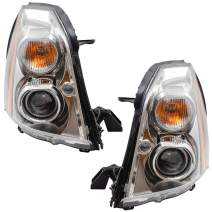 Brock Replacement Pair HID Headlights Compatible with 2006-2011 DTS 20861482 20861481